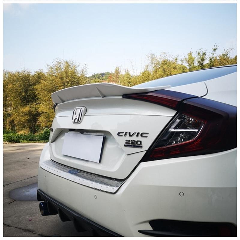 Для Honda Civic 4dr Sedan 10-го поколения 2016 2017, АБС-пластик, Задняя Крышка багажника, крышка крыла, неокрашенный Праймер, цветной задний спойлер