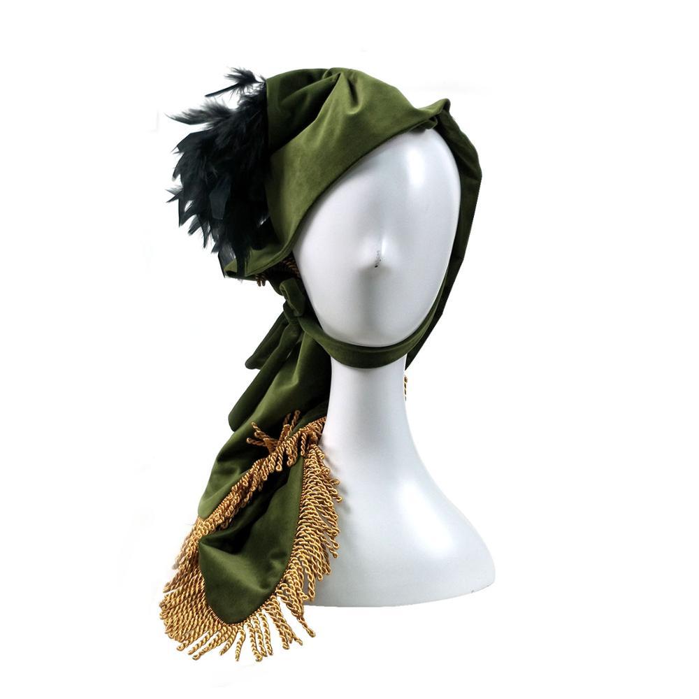 Cosdaddy escarlata sombrero gorro accesorios para Cosplay mujeres fiesta mascarada sombrero verde sombrero