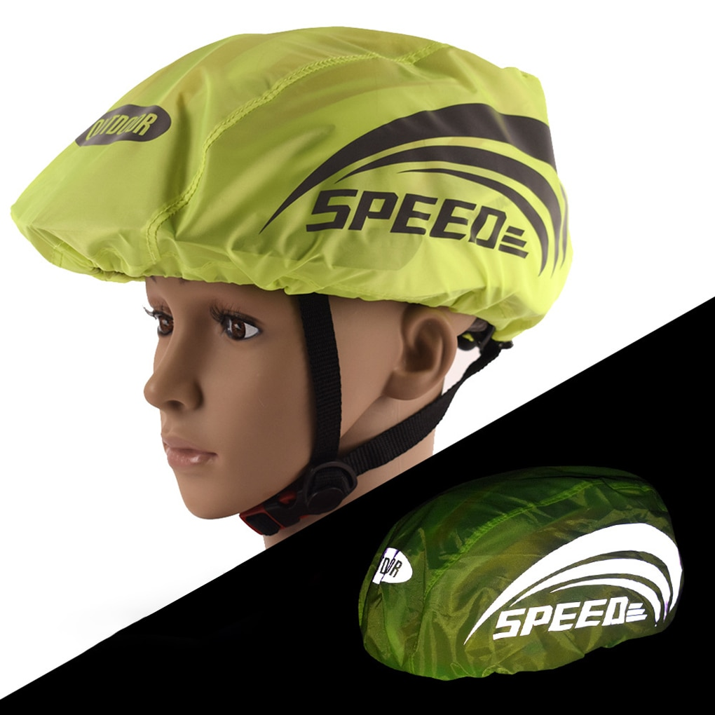 Casco de bicicleta lluvia cubierta a prueba de polvo a prueba de viento impermeable accesorios bicicleta mtb bicicleta reflectante de casco lluvia cubre