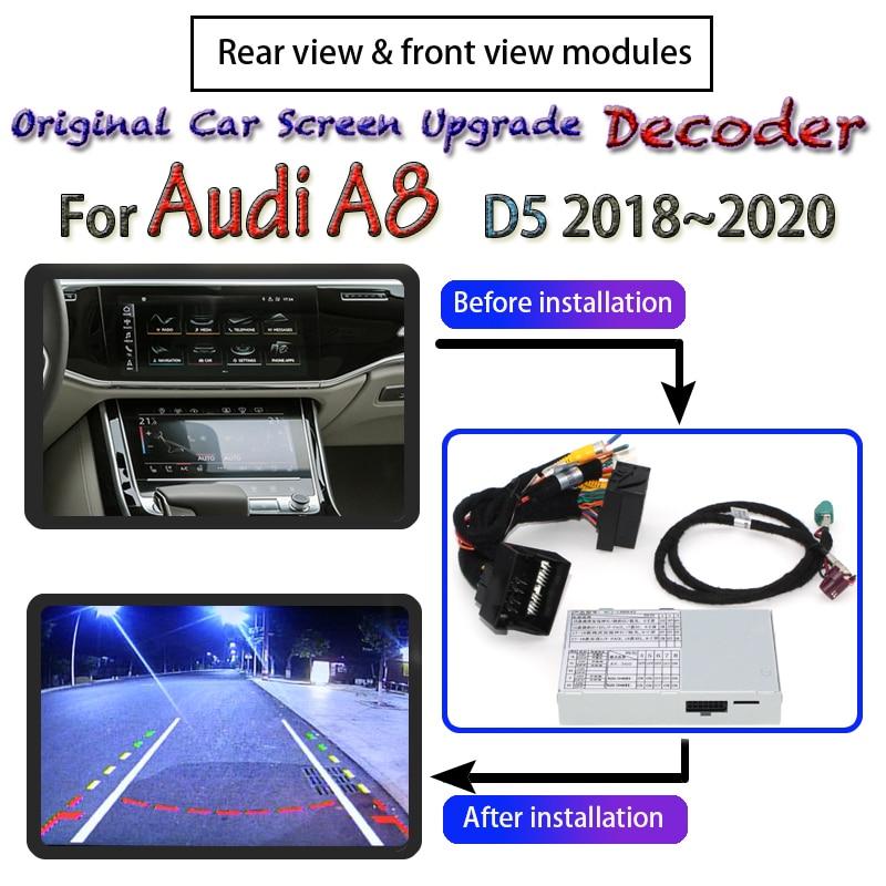 Cámara trasera modelo Adpter para Audi A8 D5 2018 2019 2020 MMI interfaz Original Pantalla de coche actualización decodificador cámara de marcha atrás de respaldo
