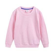 Kids Hoodies Jacket Spring/Autumn Children O-Neck Pullover Outerwear Coat For Teen Boys Girls 90-150CM Bottoming Shirts Dwq626