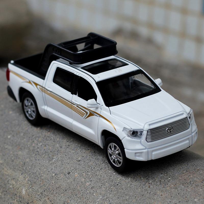 Hohe Simulation Exquisite Gießt Druck & Spielzeug Fahrzeuge Doppel Pferde Auto Styling TOYOTA Tundra Pickup Lkw 132 Legierung Auto Modell