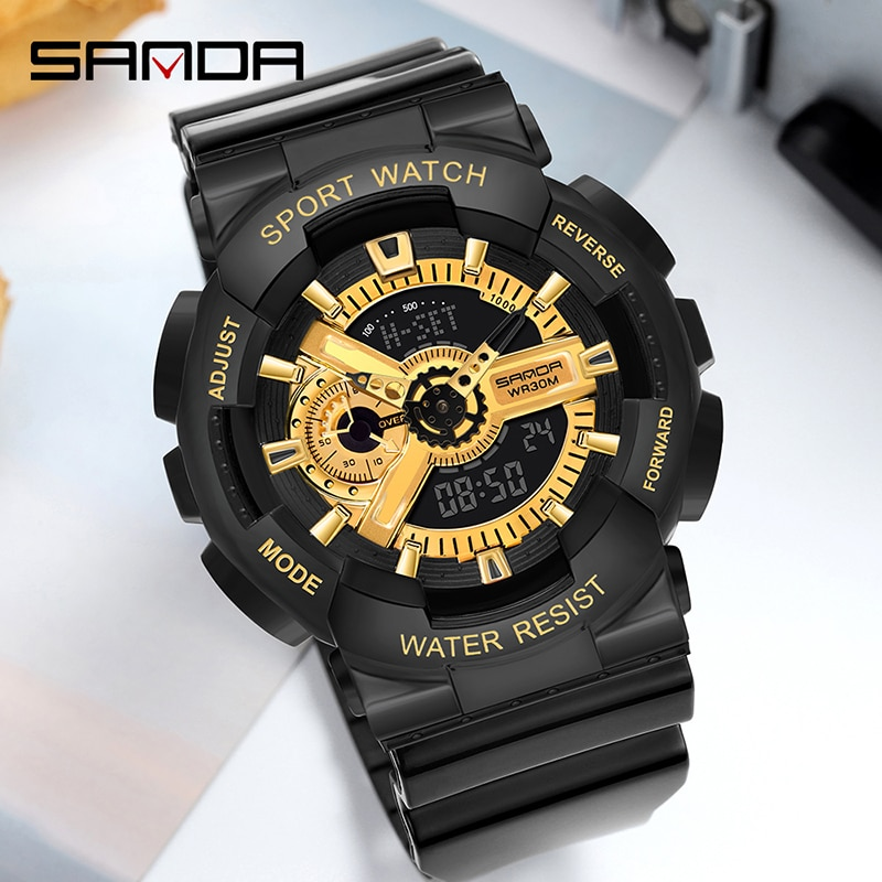 Light on Wrist 2020 Couple Watch Student Wristwatches 30m Waterproof Sports Outdoor Gift Hand Lamp Dual Display Electronic Watch enlarge