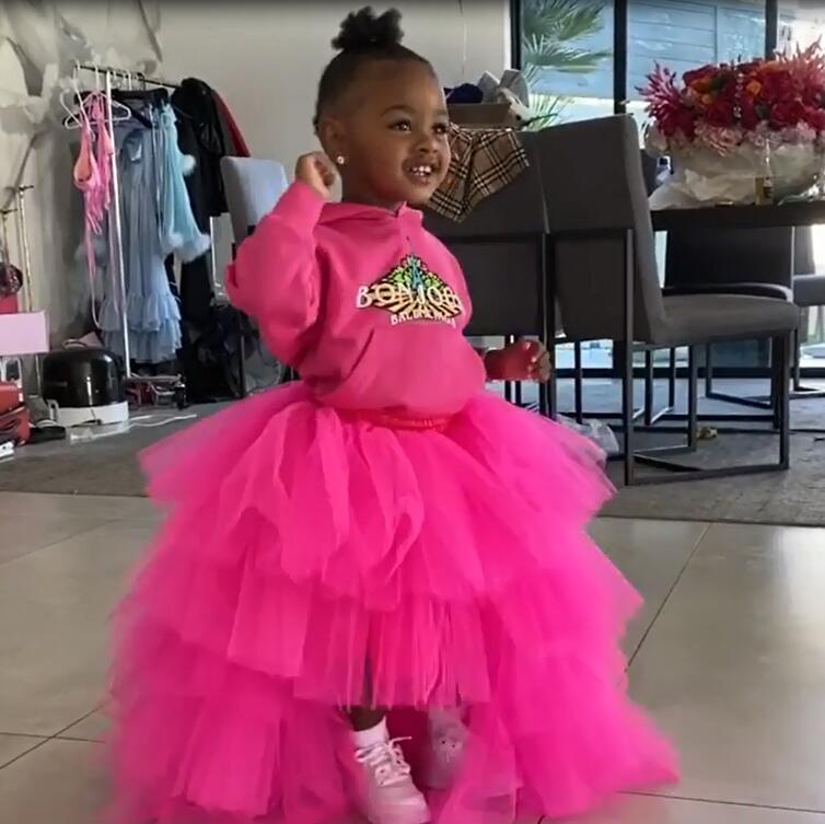 Cutte Baby Tulle Tutu Skirt Custom Made Hi Low Shappe Kid Tulle Skirt Party Birthday Photography Shoot Girls Fuchsia Tulle Skirt