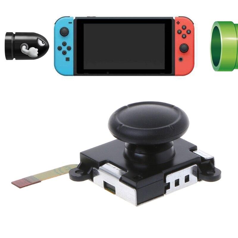 1 Uds. Nuevo Joystick Con Sensor analógico en 3D negro para Nintendo Switch NS controlador de plástico + Metal dropshipping