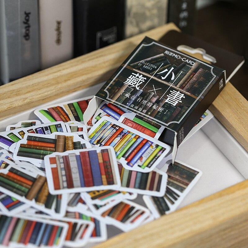 Retro biblioteca serie diario kawaii hecho a mano adhesivo papel escama Japón flor libro pegatina Scrapbooking bullet diario papelería