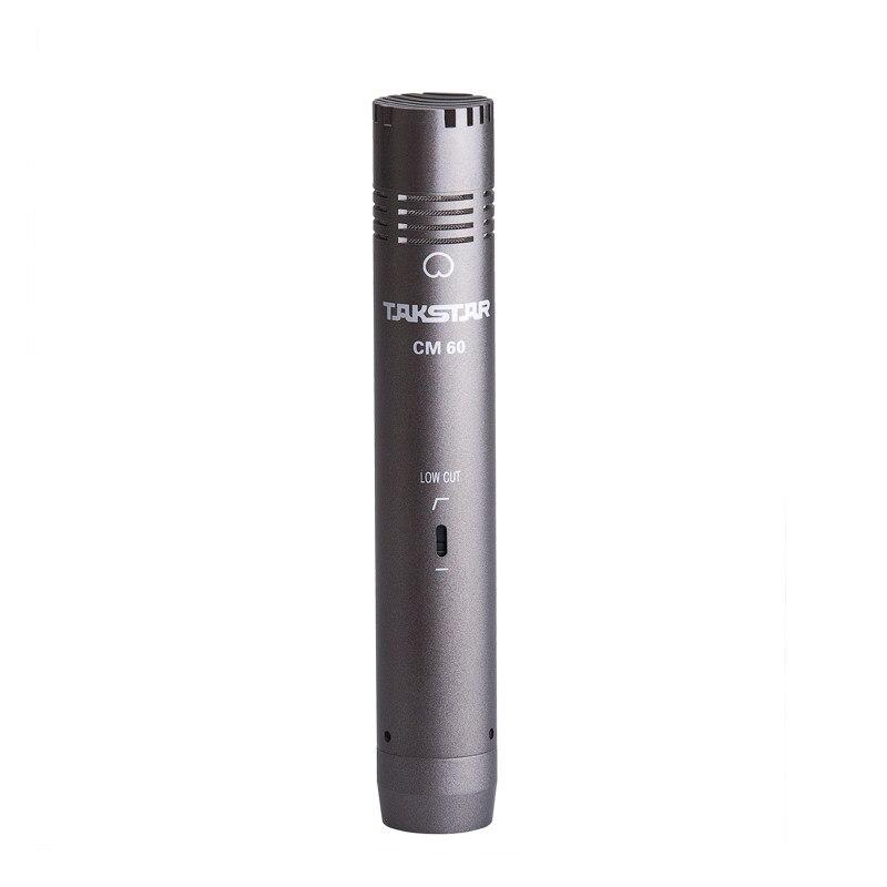 Takstar cm-60 Профессиональный записывающий микрофон, портативный конденсаторный микрофон для музыкальных инструментов, ТВ и радио