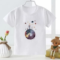 fashion cute girls baby t shirt little prince printed brands clothing summer white casual soft tops korean style child camiseta