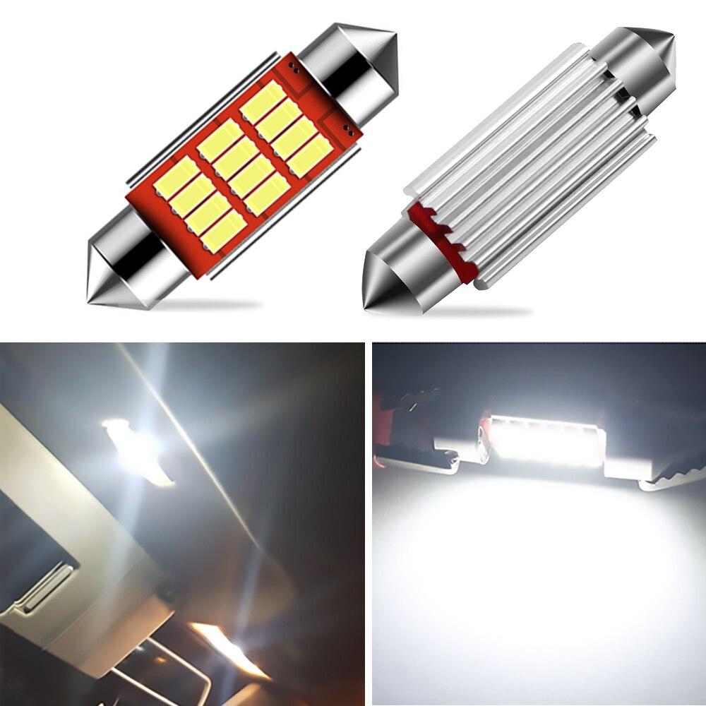 2x C5W bombilla LED CANBUS C10W, festón 36mm 39mm 41mm 4014 SMD, luz para matrícula de coche, luz para Skoda Octavia Superb