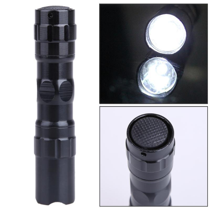 Linterna LED a prueba de agua, Mini linterna, lámpara portátil, linterna de buceo negra práctica, linterna al aire libre, linterna con luz Led, antorcha de policía