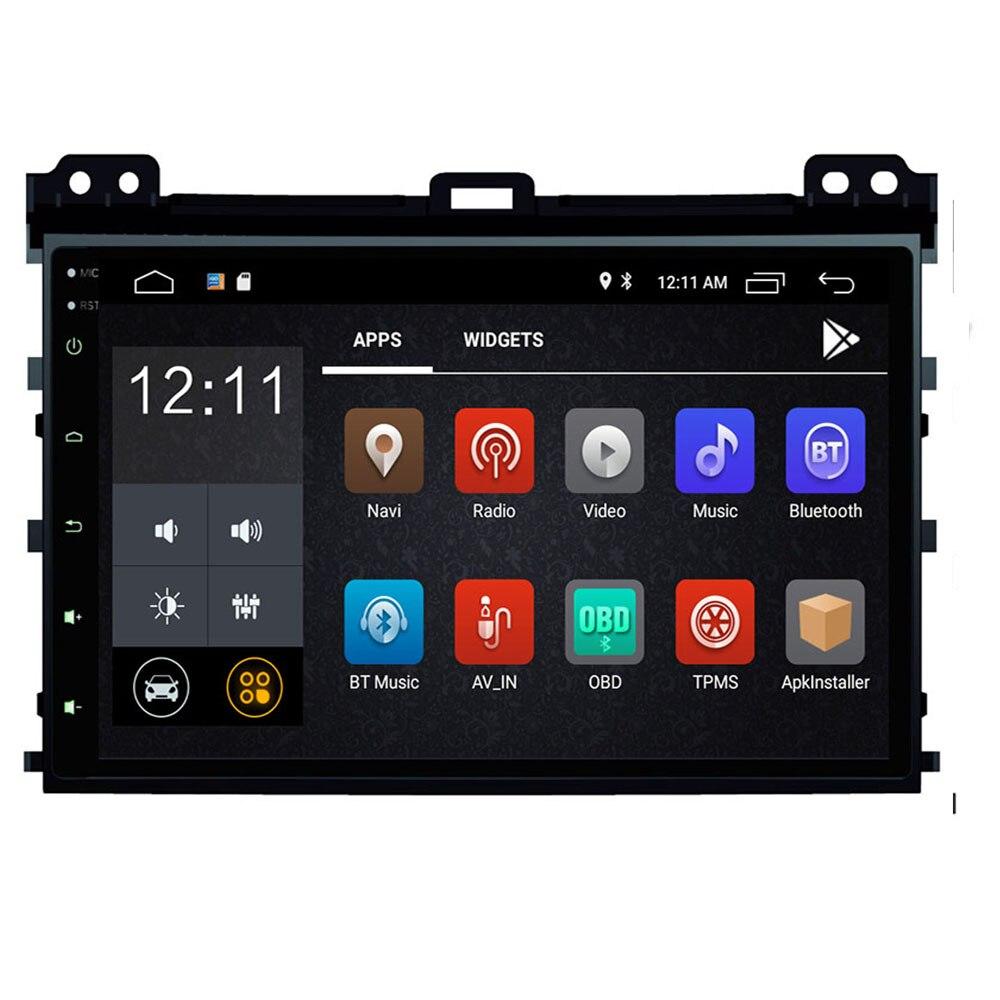 Android 10 2 din autoradio dvd multimédia pour Toyota Prado 120 Land Cruiser 2004-2009 gps système de navigation navi 2.5D