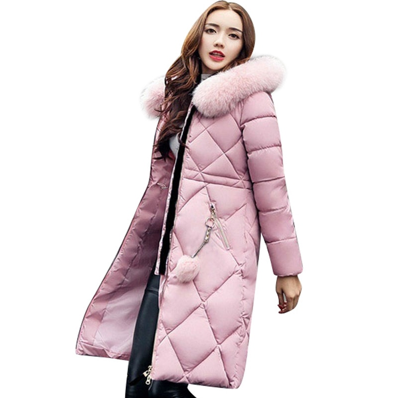 covrlge winter thick mens parka fur hooded brand 2019 new parka coat men down keep warm fashion plus asian size m 4xl 5xl mwm076 2020 Winter Long Coat Ladies Hooded Down Parka Coat Ladies New Winter Warm Coat Ladies Loose Big Fur Collar Coat Oversize M-5XL