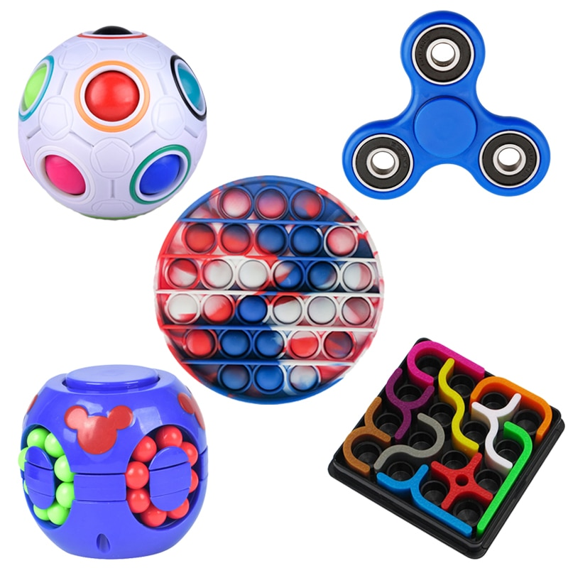 5pcs/set fidget toys pack antistress Adults Interactive Children Sensory Antistress Relief Fidget Toy Figet spinners Press ball enlarge