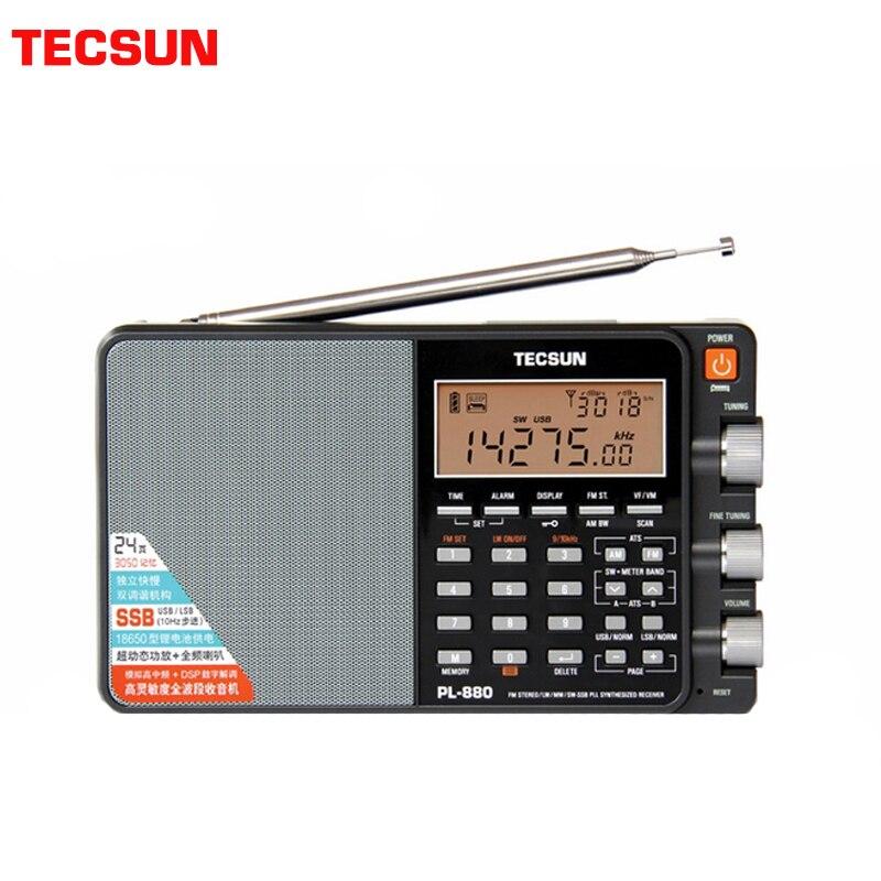 TECSUN PL-880 راديو محمول كامل الفرقة مع LW/SW/MW SSB PLL وسائط FM راديو ستيريو الإنترنت