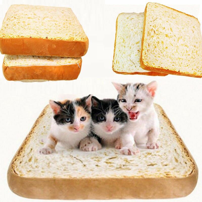 Soft Pet Mat Dog Cat Pillow Bread Shape Warm Blankets Home Decor Cushion Home decor