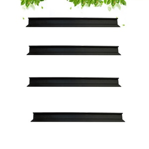 4pcs Standard Shower Glass Doors Squeegee Replacement Six Generations Dedicated Rubber Accessory Black