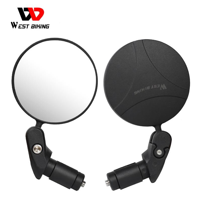 Espejo retrovisor de bicicleta con rotación WEST BIKING 360, espejo retrovisor de seguridad, accesorios de bicicleta para manillar de bicicleta MTB