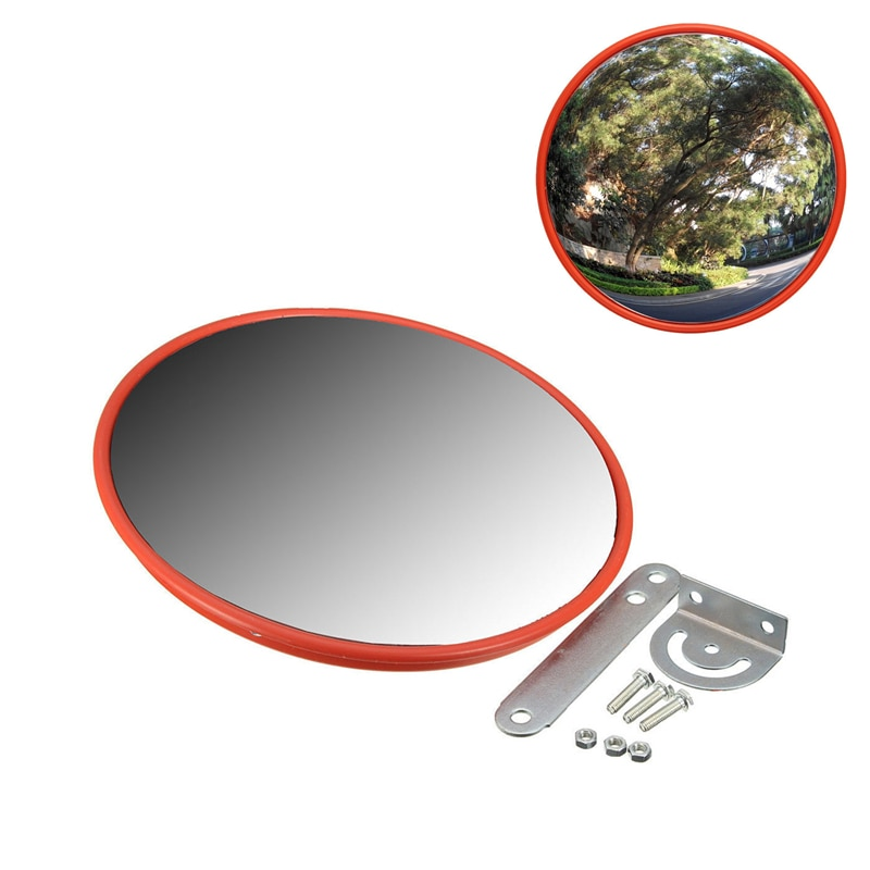 30cm Wide Angle Security Curved Convex Road Mirror For Traffic Driveway Traffic Signal Roadway Safety Convex Mirror