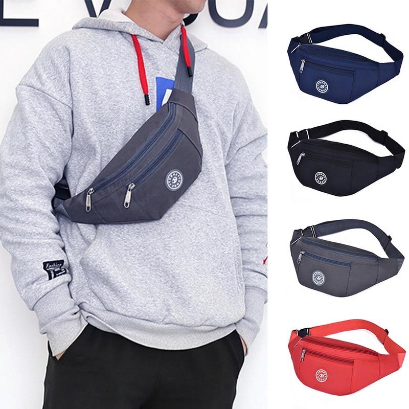 Waist Bag Nylon Man Belt Pouch Belt bag Crossbody Bags Waterproof Casual Large Phone Sports Bag Chest Bag Women's Bag