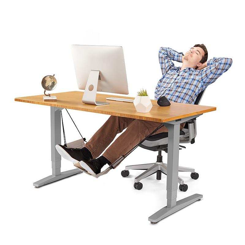 work table computer desk footrests mini portable comfortable relaxing leg hammock adjustable office footrest foot hammock