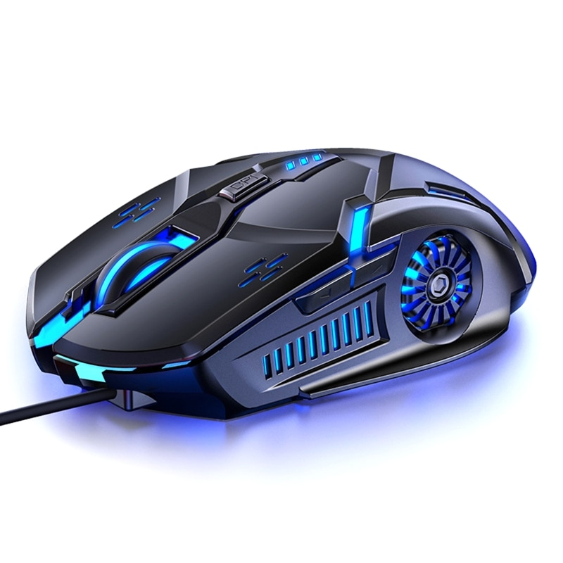 G5 Silent Wired Mouse Six-button Colorful Luminous Gaming Gaming Mechanical Mouse 6D 4-Speed DPI RGB For PUBG Computer Laptop