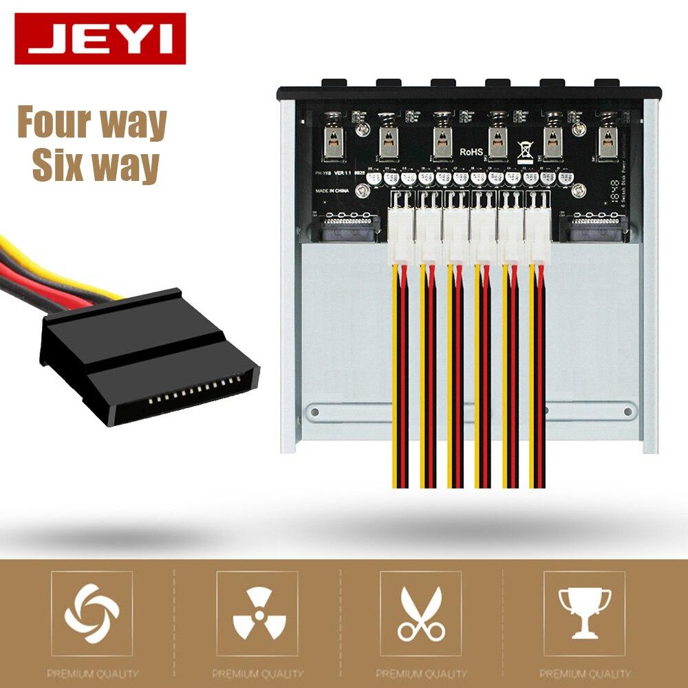 JEYI قرص صلب تحكم 4 طريقة/6 طريقة HDD SSD قوة التبديل ذكي قرص صلب نظام تحكم دعم ATX وحدة معالجة خارجية للحاسوب
