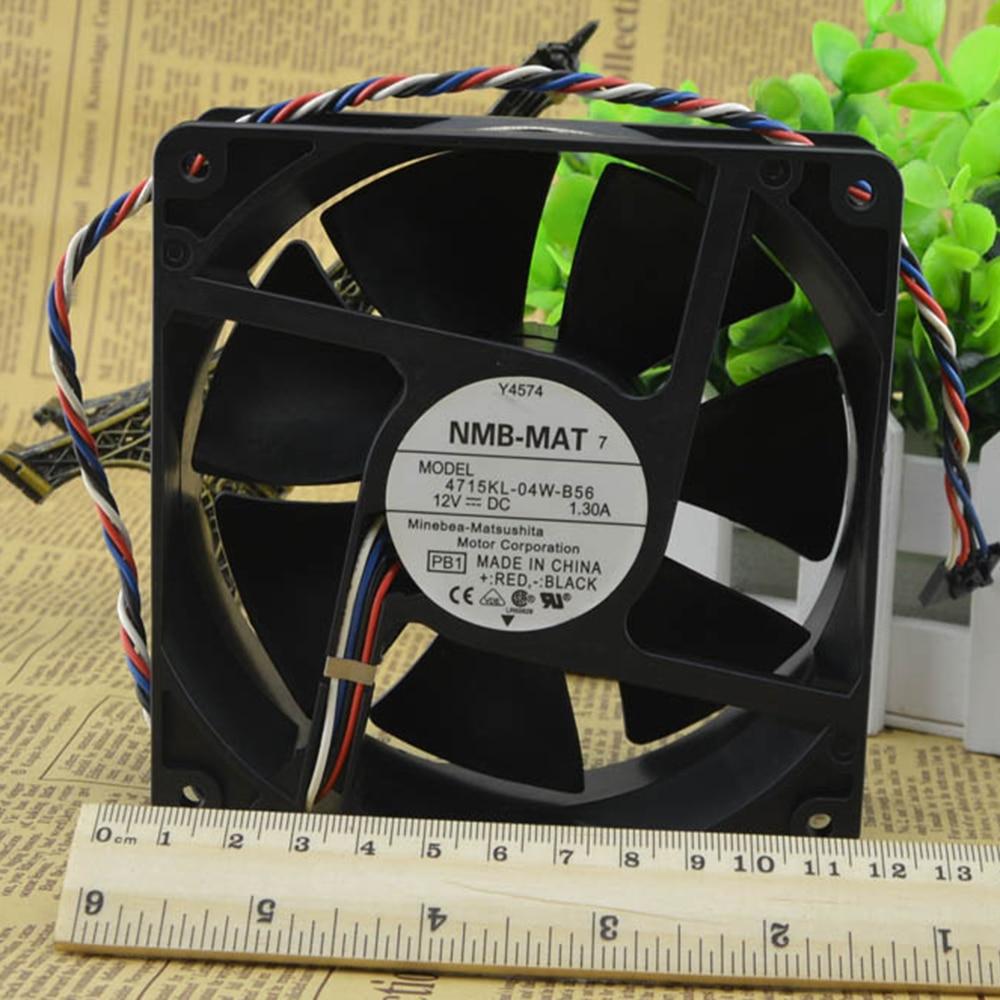 For NMB 4715KL-04W-B56 12cm 12V 1.3A Y4574 120*120*38mm 4 wire ant special fan