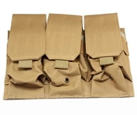 5 56mm m4 m16 tactical molle triple rifle magazine pouch military army hunting paintball airsoft ak pistol mag holder waist bag