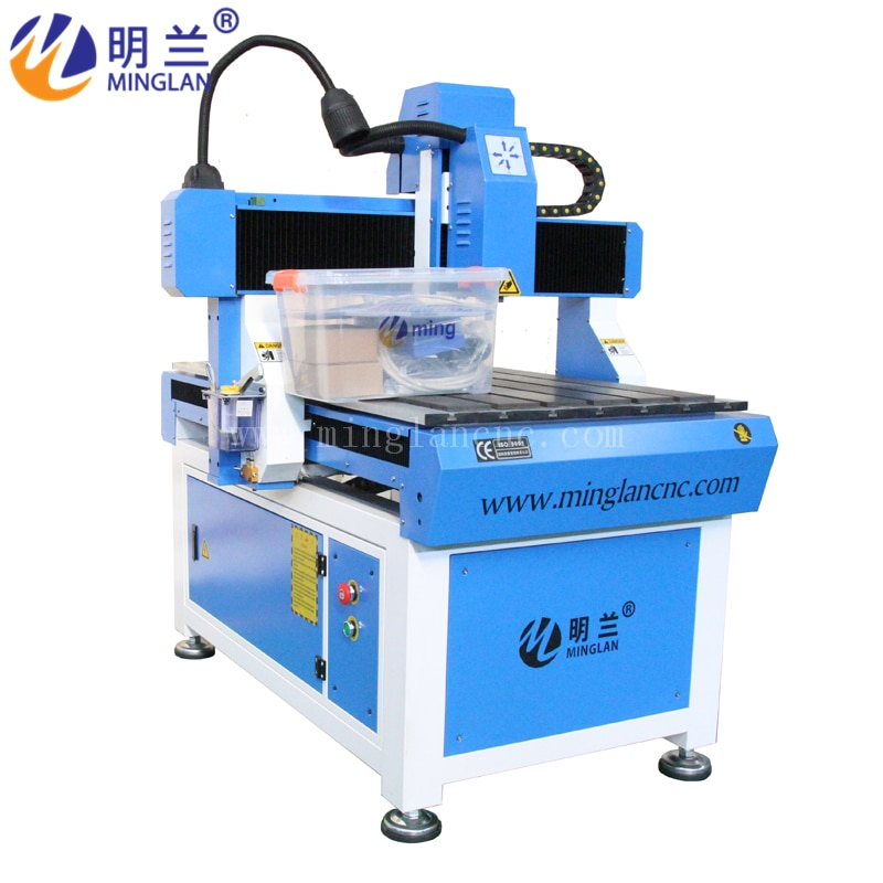 Milling-Machine 6090 Cnc Router Woodworking Water-Cooling-Spindle-2.2kw cnc milling spindle er16 1 5kw water cooling spindle water pump water pipe spindle support