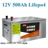 carcasa de acero inoxidable 12v 500ah lifepo4 bateria para agv carrito de golf ev de almacenamiento solar de respaldo de energia
