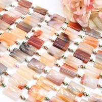 2strandslot rectangle multicolor agates loose natural stone beads for woman diy necklace bracelets jewelry making strand 15