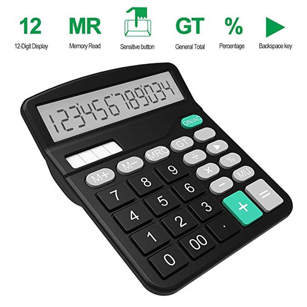 Office Finance Calculator Calculat Plastic Solar Computer Business 12-Bit Desktop