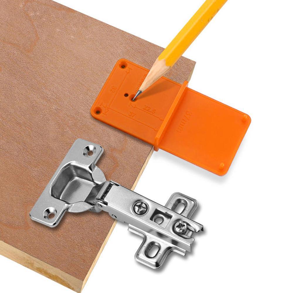 35 / 40mm木工パンチヒンジ、ドリル穴テンプレート、ドアキャビネット用ドリルビット穴ツール