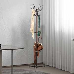 Metal Steel Tube Tree Style Coat Rack Hook Clothes Hanger Tree Shaped Coat Display Standing Rack Bedroom Clothing Organizer