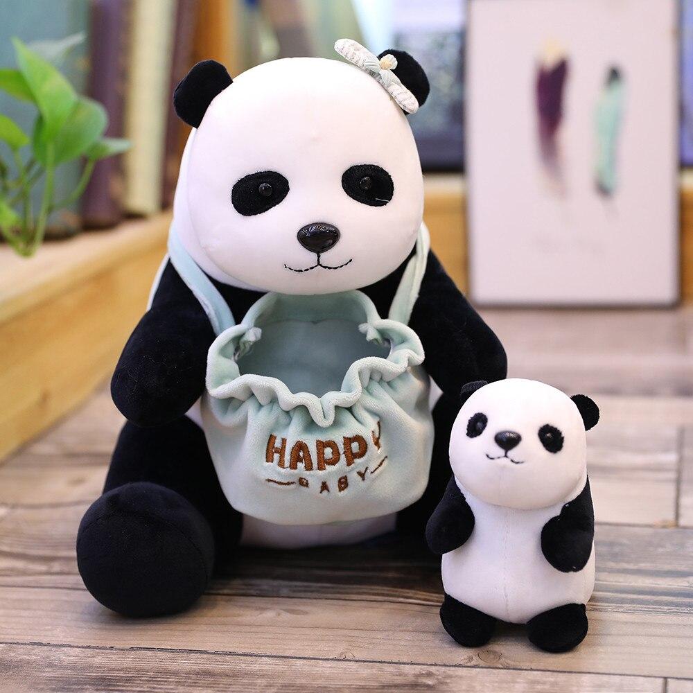25cm Linda Madre y niño serie Panda erizo canguro Oso Polar Squama muñeca de felpa juguete de Educación de bebé juguetes de alta calidad -regalos