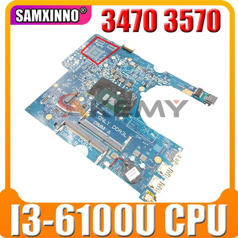 لديل 3470 3570 اللوحة المحمول CN-0P5M6K 0P5M6K P5M6K 14291-1 مع SR2EU I3-6100U 100% اختبار كامل