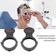 Cadre dessai optique à un œil accessoires dessai lunettes support déquipement réglable cadre dessai Clip lentilles cadres optométrie