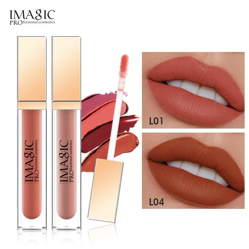 Imic lipsgloss matte 20 cores batom aveludado batom líquido matte à prova dwaterproof água tonalidade labial completo & rico sexy maquiagem labial cosméticos