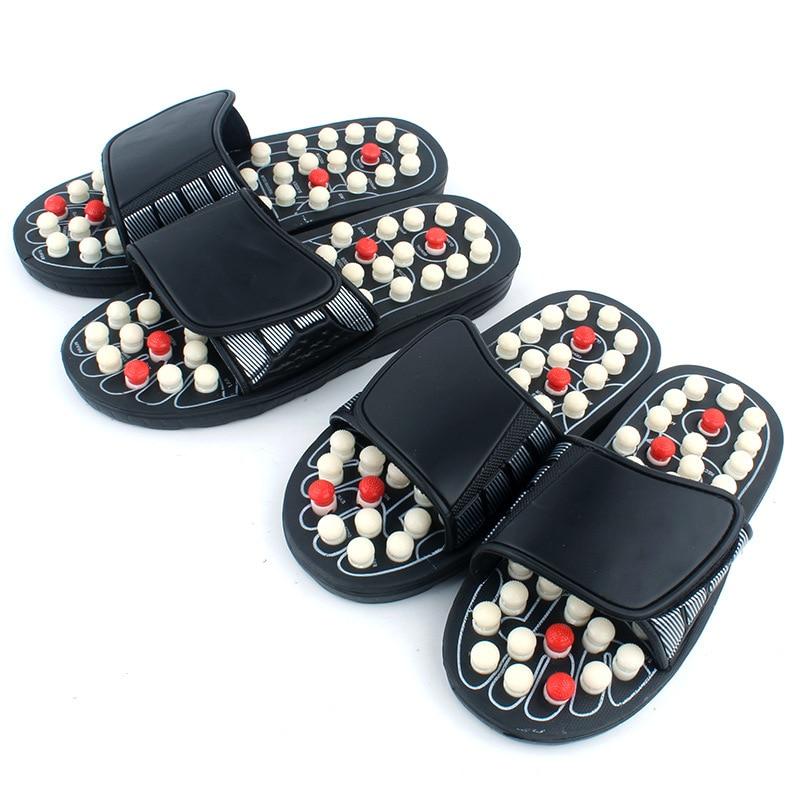 Acupoint نِعال تدليك صندل للرجال قدم الصينية العلاج بالابر الطبية الدورية مدلك قدم أحذية للجنسين