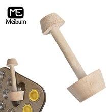Meibum Holz Torte Tamper Form Doppel Seite Holz Ei Torte Form DIY Kuchen Gebäck Drücker Küche Backen Werkzeuge