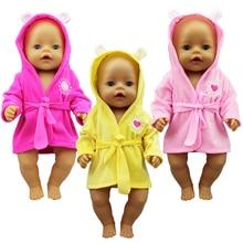 New bathrobe Doll Clothes Born Babiy Fit 17 inch 43cm Doll Accessories For Baby Festiival Gift