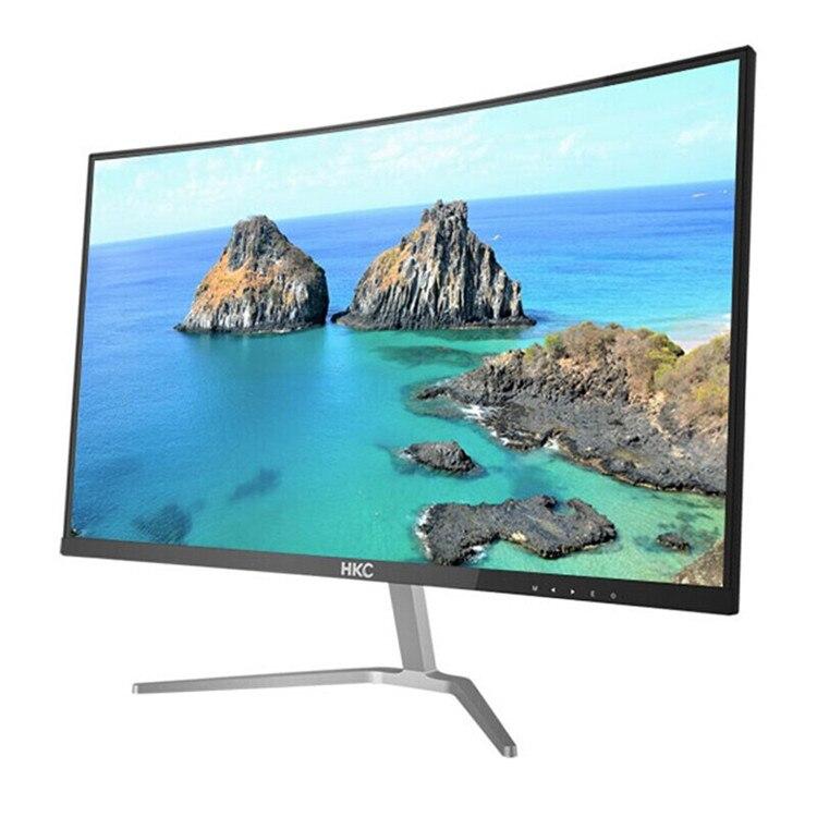 Smart tv com tela curvada led barata full hd 24 partes da fabricante chinês monitor de jogos de led curvado 60hz