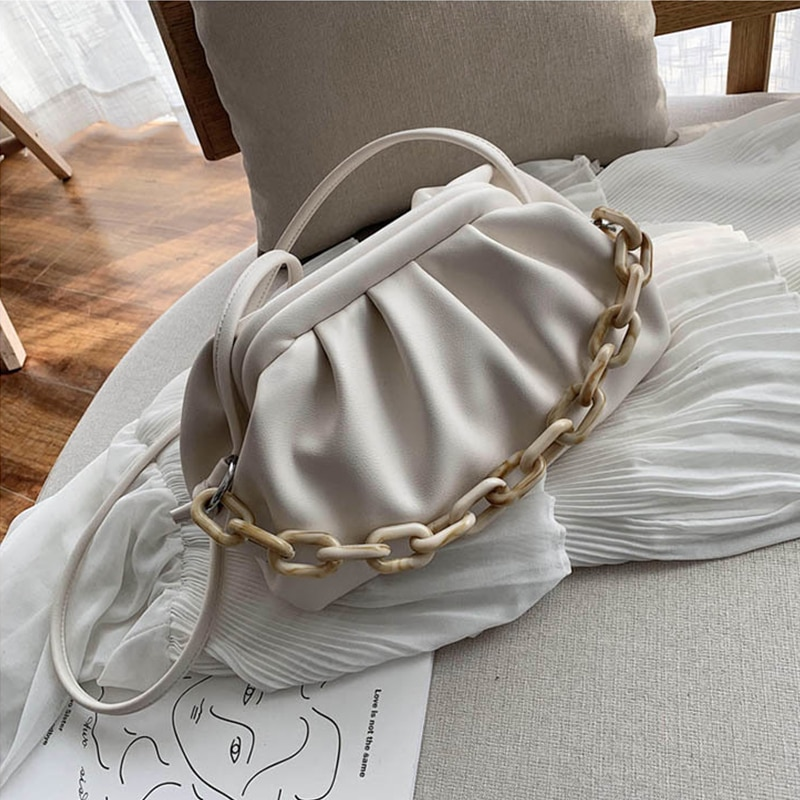 Designer Candy Color Soft Leather Simple Shoulder Bags for Women 2021 Summer New Small Crossbody Tra