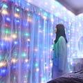 Рождественское украшение для дома 3 м занавес струнный светильник вспышка сказочная гирлянда домашний декор Свадебные украшения на Рамадан с новым годом