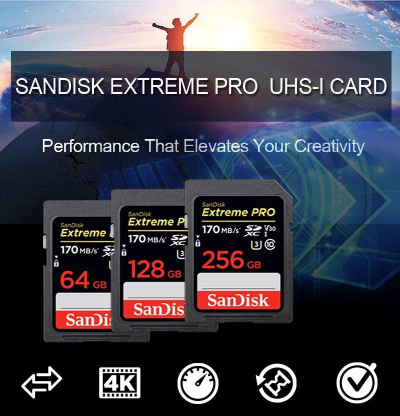 Mini Micro SD Card Sandisk Extreme Pro 256GB  64 32 GB Flash SD Card Class 10 U3 USH-1 SDXC Micro SD 128GB Memory Card High Spee enlarge