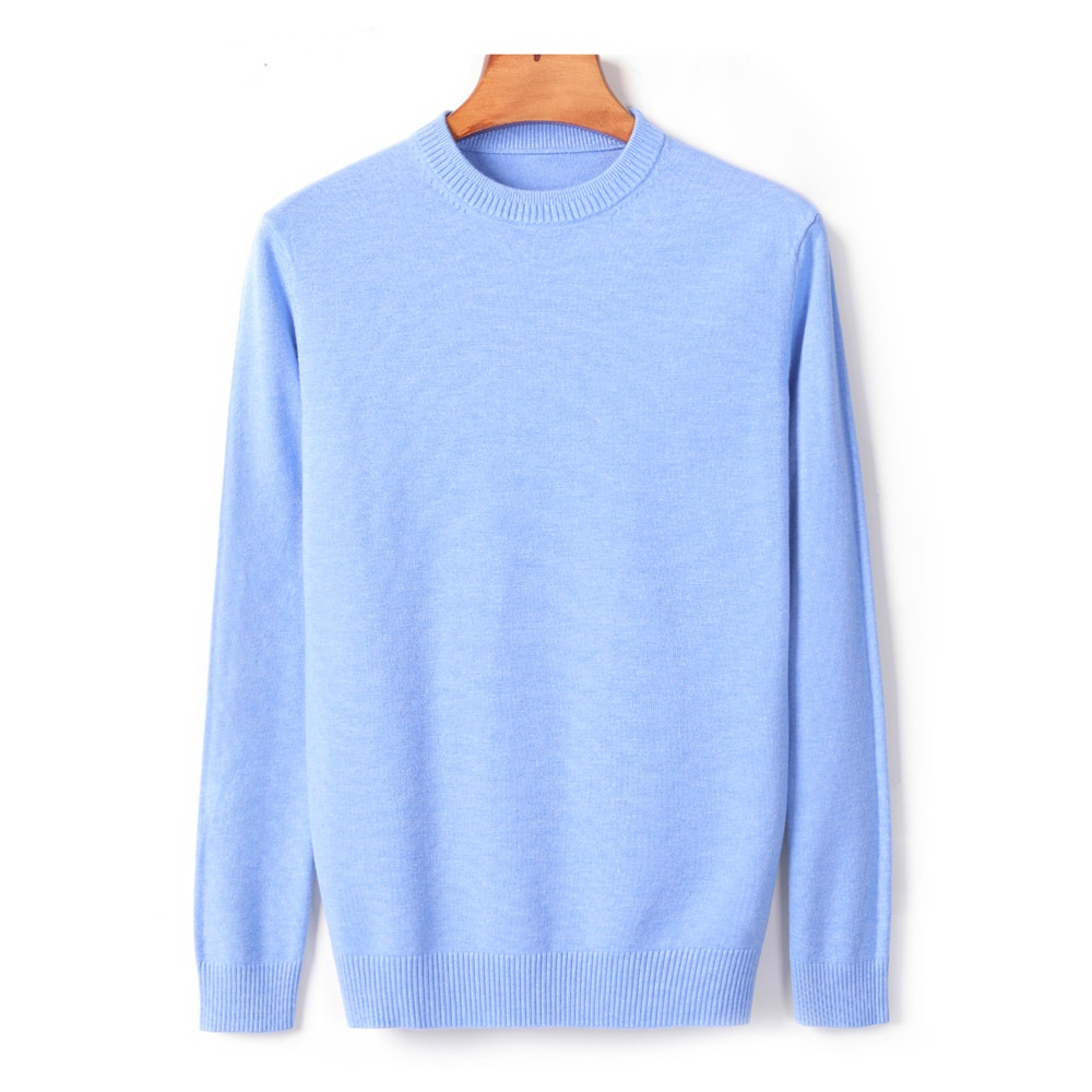 10 Colors Men's Thick Round Neck Sweater 2020 New Autumn/winter Casual High Quality Pullover Warm Sweater Male Brand Clothes