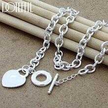 925 argent Sterling coeur/cercle/chien pendentif collier femme homme 18 pouces chaîne collier mariage fiançailles fête bijoux