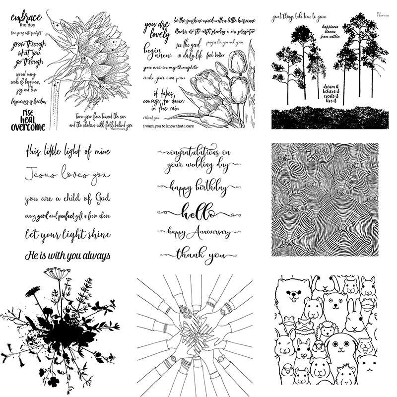 Claro Samps de Tulip árboles brazo osos cachorros 2020 para álbum para recortes de fotos confección de tarjetas decoración sellos nuevos