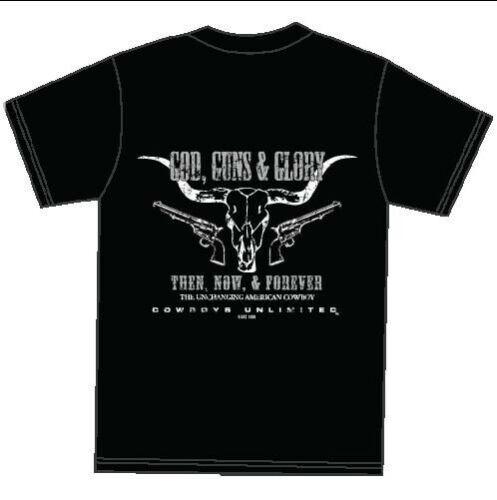 Vaqueros hombres ilimitados negro armas y Gloria S/S camiseta CB1544