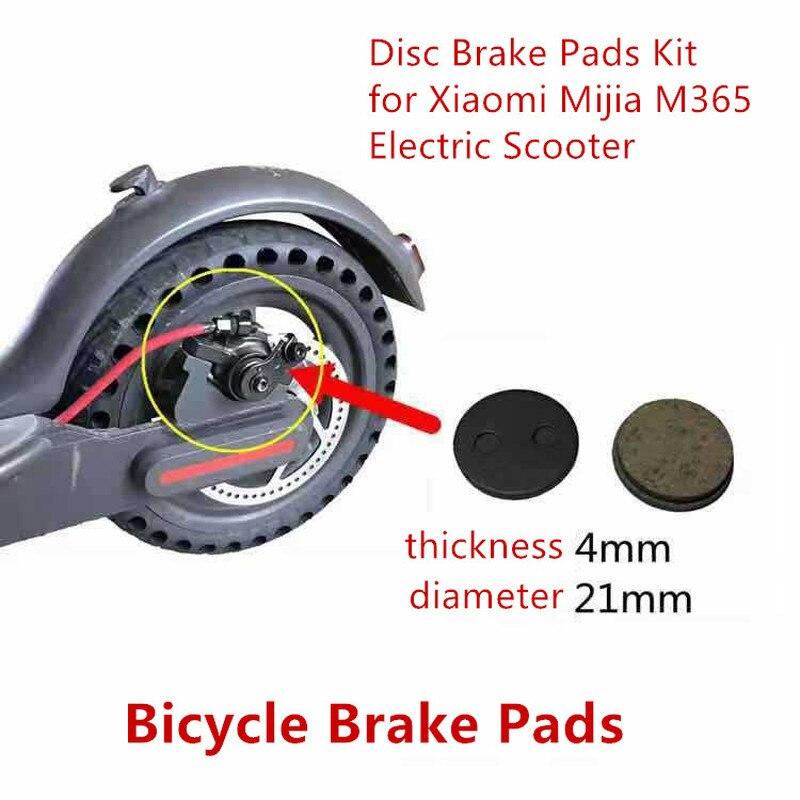Uds bicicleta pastillas de freno de disco de la rueda trasera de...